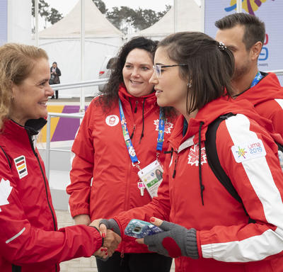 The Governor General met with medical personal from Team Canada.