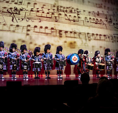 A Canadian Armed Forces band performed.