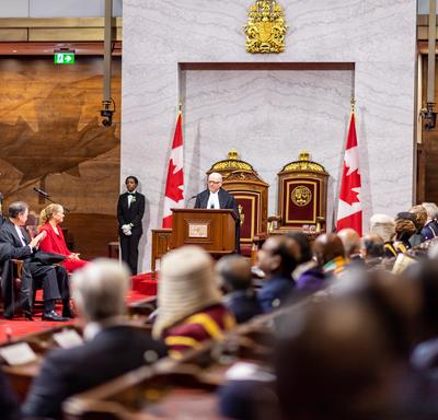 The Honourable George Furey, Speaker of the Senate, delivered remarks.