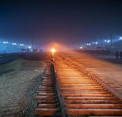 Photo of the railroad tracks.