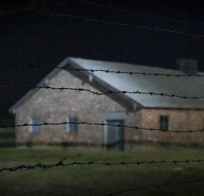 Photo of a building in Auschwitz.