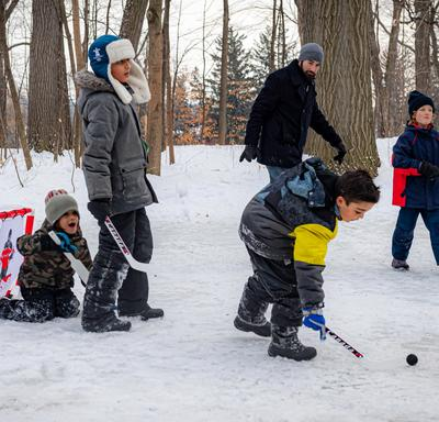 During Winter Celebration, visitors had fun outside while taking part in a variety of winter sports.