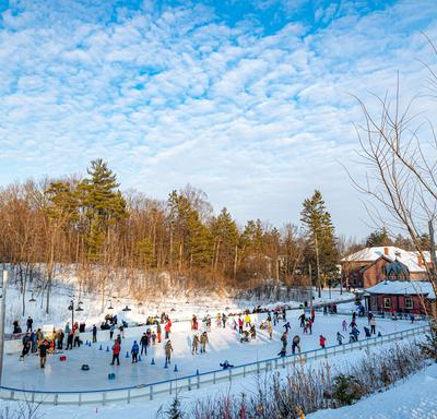 Visitors enjoyed Rideau Hall's historic rink, first established by Lord Dufferin, Canada's third governor general, in 1872.