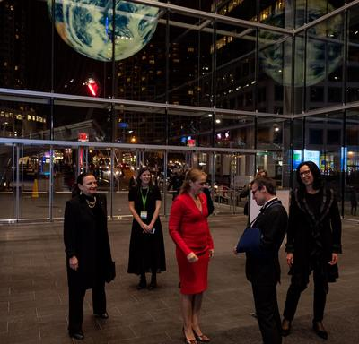 The Governor General arrives at the Vancouver Convention Centre.