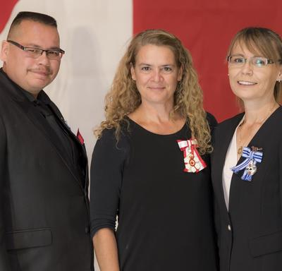 The Meritorious Service Medal was presented to Kirby and Marie Fontaine.  After winning the lottery, Kirby and Marie Fontaine chose to enrich the lives of others in their home province.