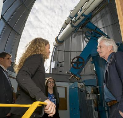 The Governor General also stopped at the University of Saskatchewan observatory.