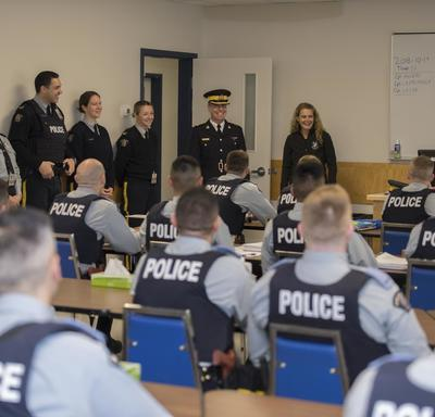 The Governor General visited the RCMP Academy Depot Division that prepares Cadets for real-world policing situations.