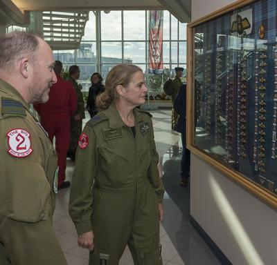 Afterwards, the Governor General toured the NATO Flying Training in Canada academy.