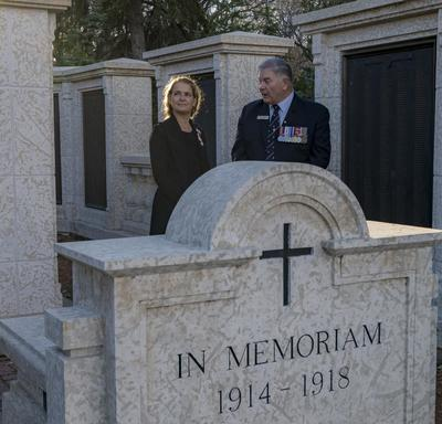 Her Excellency then proceeded to the Saskatchewan War Memorial.