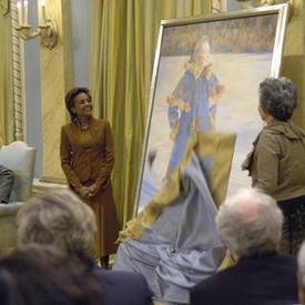 Dévoilement du portrait officiel de la très honorable Adrienne Clarkson