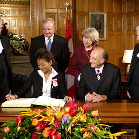 The Right Honourable Michaëlle Jean, Governor General of Canada on the occasion of her installation
