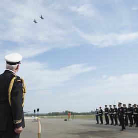 Cérémonie d'adieu militaire