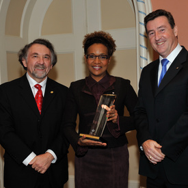 Governor General honoured with Recognition of Achievement Award from the National Quality Institute