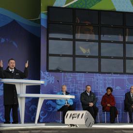 Dévoilement de l'installation de la Trêve olympique
