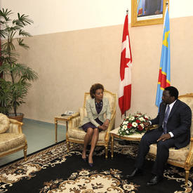 STATE VISIT TO CONGO - Welcoming ceremony and meeting with the President