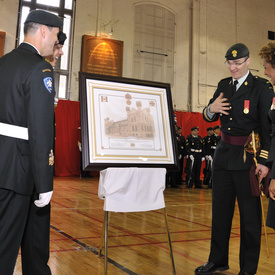 Visit of the Fusiliers Mont-Royal in Montréal