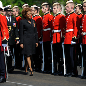 Visit to Royal Military College of Canada - Inspection of the guard of honour