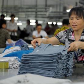 Visite à la fabrique de vêtements Guangda