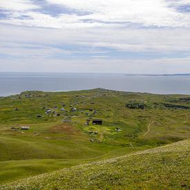 La magnifique vue du paysage et de l'océan, vue du sommet de Big Hill.