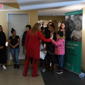 The Governor General meets with Women and children from the YWCA Alder Gardens.