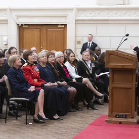 The Governor General is delivering remarks.