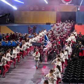 L'équipe de Terre-Neuve-et-Labrador est entrée dans l'aréna.