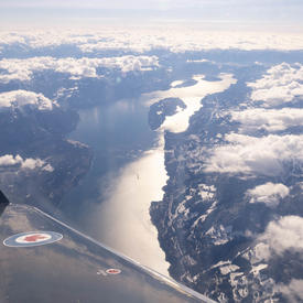 A picture of British Columbia taken from the plane.