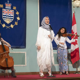Students from Pearson College did a musical performance.