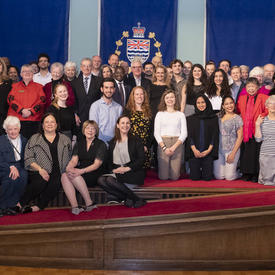 A group photo of Pearson College students and the Governor General.