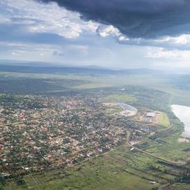 Photo du Rwanda prise de l'avion.
