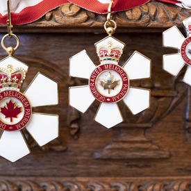 A picture of the Order of Canada medals