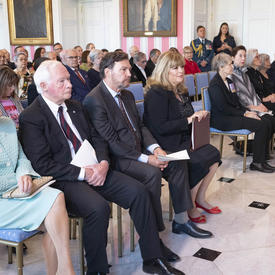 A photo of guests in attendance at the Order of Canada ceremony
