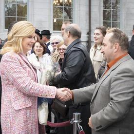 La présidente a rencontré des membres de la communauté croate.