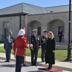 The Governor General received the royal salute.