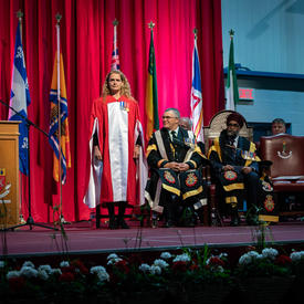 The Governor General stands to receive a Doctor of Laws honoris causa.