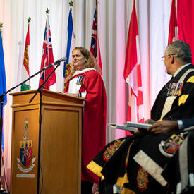 The Governor General addresses the 2019 graduating class.