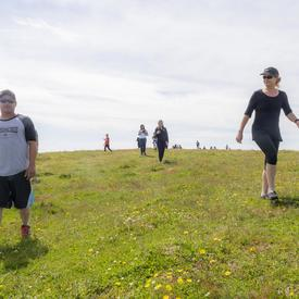 The Governor General and a small group reach the top of Big Hill.