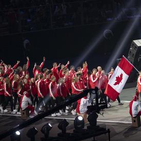 Team Canada entered the stadium.
