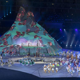 Peruvian cultural performances were part of the opening ceremony.