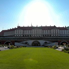 A photo of the Royal Castle in Warsaw.