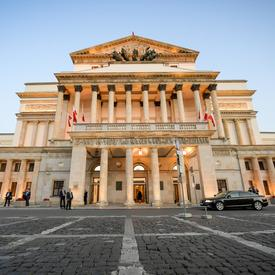 A photo of the Grand Theatre in Warsaw, Poland.