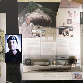 Exposition au musée du Régiment de la Chaudière.