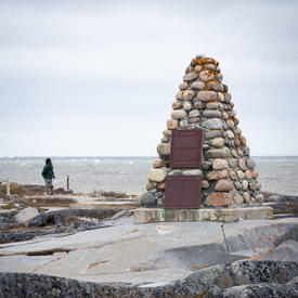 Photo of a memorial at Cape Merry.