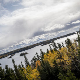 The view at Baker's Narrows lookout.