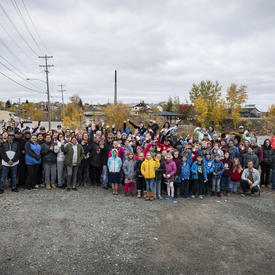 Group photo with members of the community.