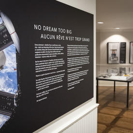 Section de l'exposition Osez rêver, à l'affiche à Rideau Hall jusqu'en 2022.