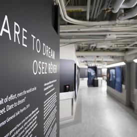 L'exposition Osez rêver sera à l'affiche à Rideau Hall jusqu'en 2022.