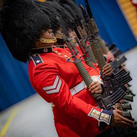 Members of the Governor General's Foot Guards on parade.