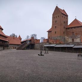 A photo of Trakai Castle.