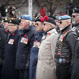 Les anciens combattants sont solidaires lors de la cérémonie nationale du jour du Souvenir.